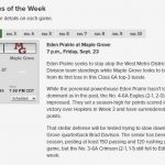 Football: Game of the Week