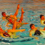Synchro Swimming: Enter sections competition