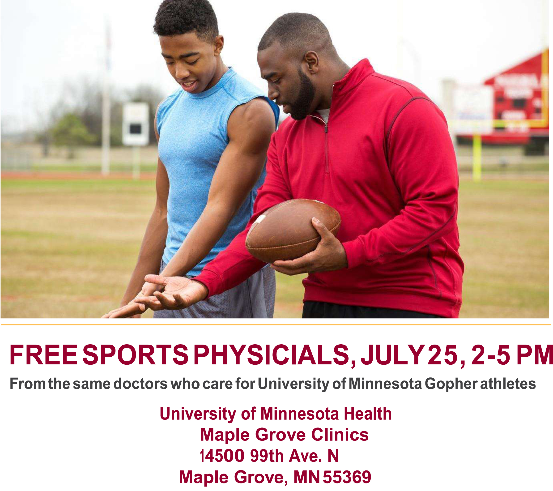 Free Sports Physicals on July 25th!