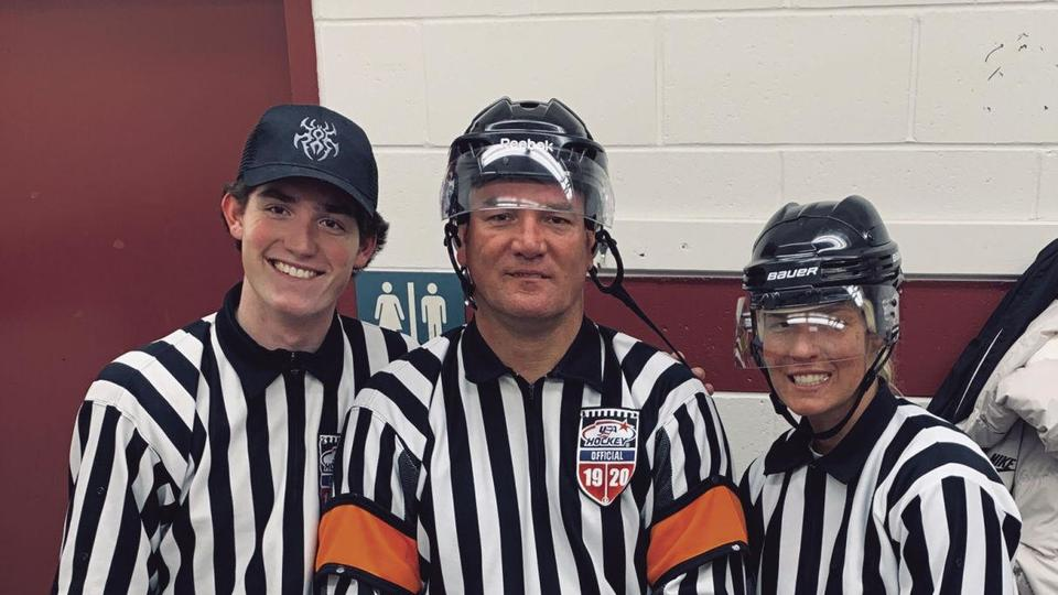 Girls Hockey: Crimson graduate Tippy Hill played and refereed in state tournament