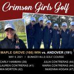 Girls Golf: Varsity results from Bunker Hills vs Andover