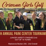 Girls Golf: JV Results from Park Center Tournament