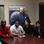 Tyler Sims signs with Highland Community College