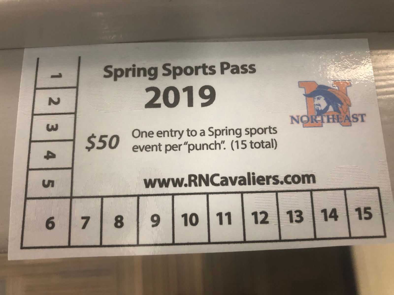 Spring Sports Season Passes Available