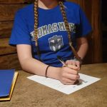 Sierra Szuhay Signing Letter of intent to Swim at Thomas More University
