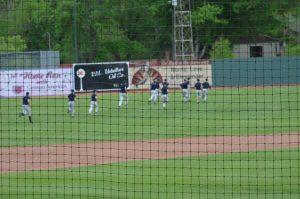 JV Baseball at League Stadium (Photos courtesy of Guy Wilson)