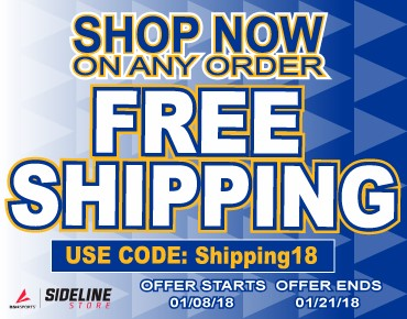 Free Shipping on Sideline Store