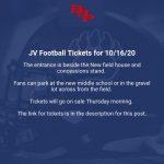 JV Football Tickets vs. Wren