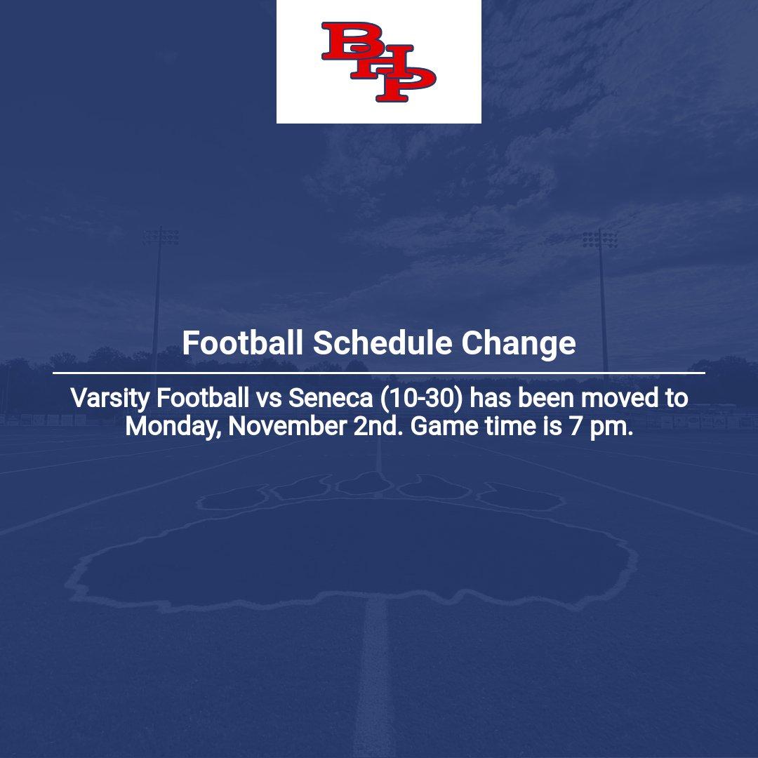 Football Schedule Change