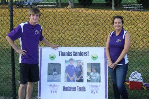 EHS Tennis Honors Seniors