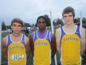 Three Boys Cross Country Runners Advancing to Regional