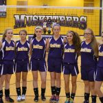Lady Musketeers split with Lady Cougars in MS Volleyball