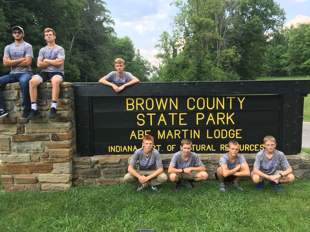 EHS Boys XC Attend Annual Summer Running Camp at Brown County