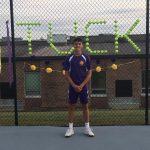 Tennis Team Honors Tucker Chism on Senior Night