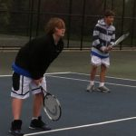 Middle School Tennis wins a close one with South Christian