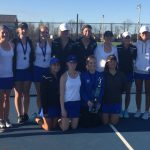 Girls Varsity Tennis finishes 1st place at Mustang Invite