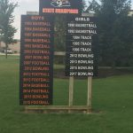 New Girls Bowling State Championship sign updated