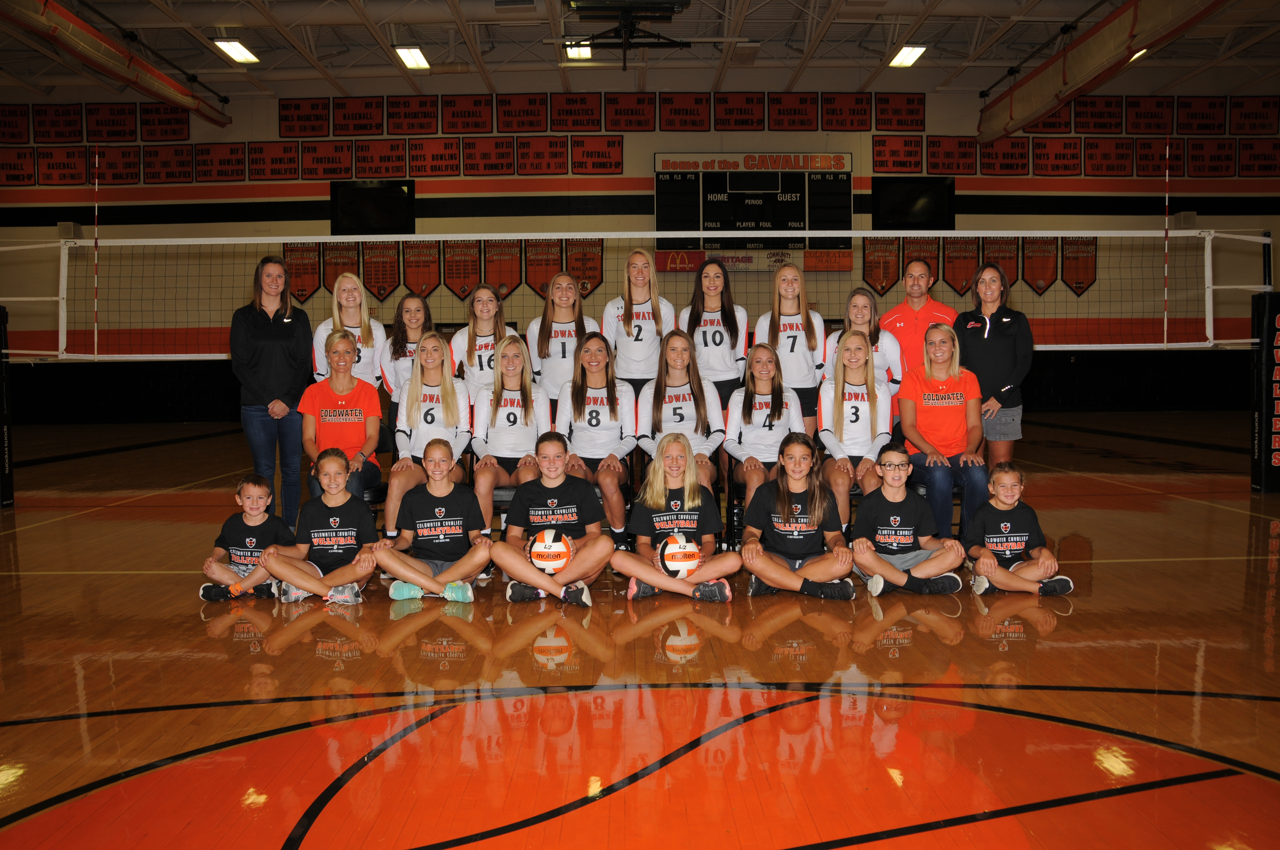 Coldwater Varsity Volleyball Spikeoff Bracket sponsored by Totally Promotional