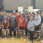 Boys Varsity Wrestling finishes 1st place at Coldwater Cavalier Invitational