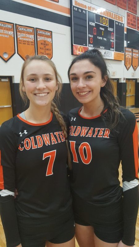 Maddi and Taylor shine in District 8 Volleyball All Star match