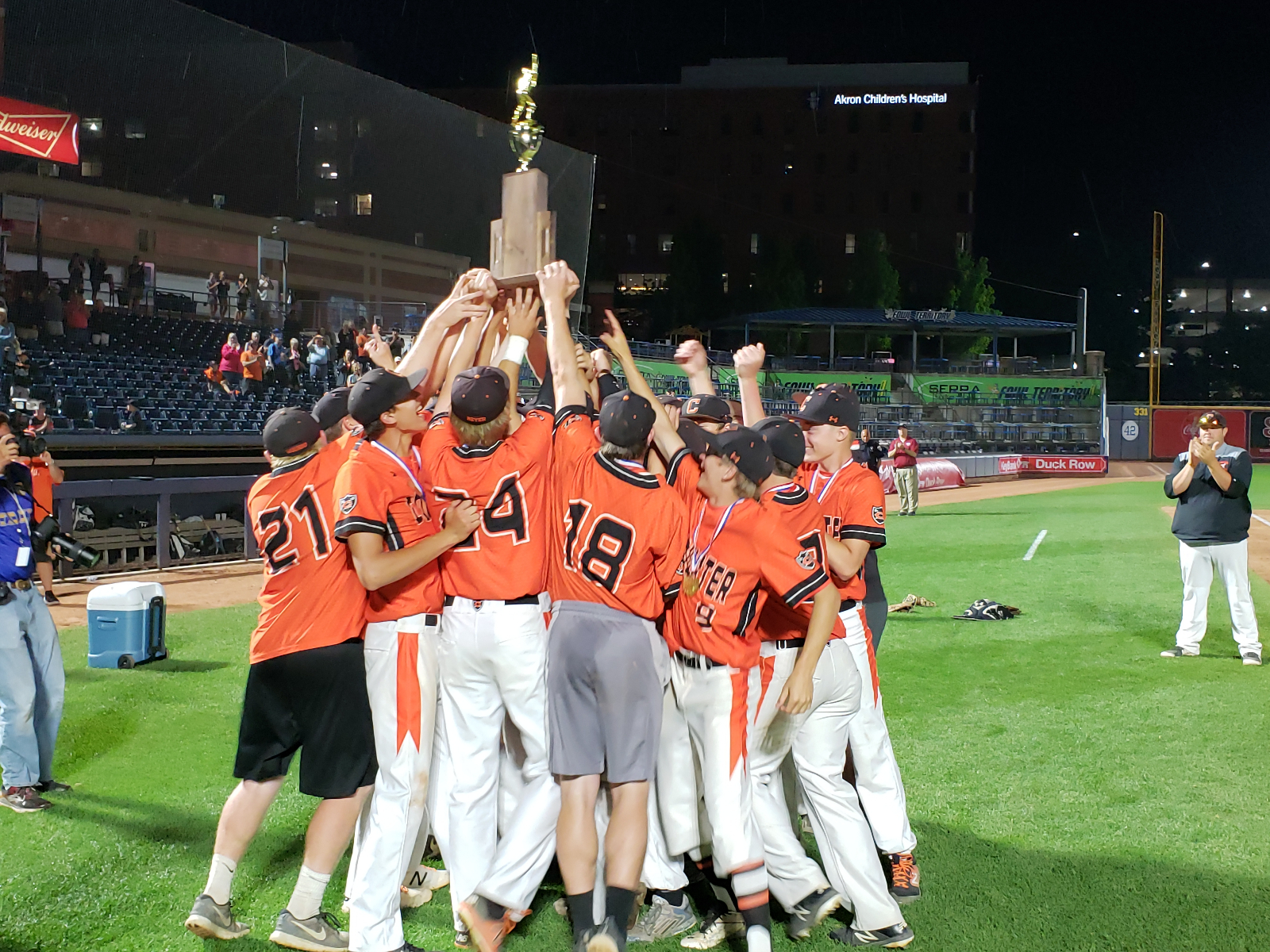 Coldwater Baseball picks up the schools 7th State Baseball Title