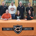 Coldwater senior Jessica Break signs for Track