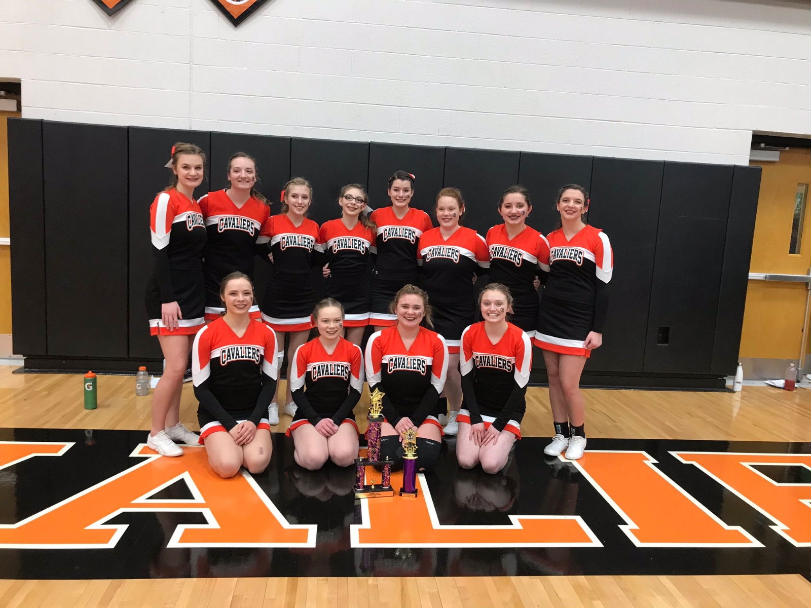 Coldwater HS & JH Cheerleading has great day at Game Day Competition!