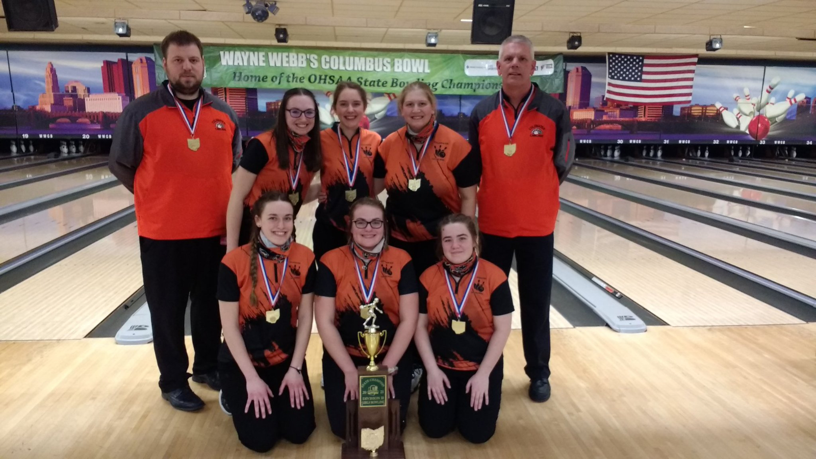 Coldwater girls bowling are State Champions!