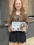 "Harmony Bonifas earns Kiwanis ""We Build"" Athletic Award"