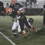 San Mateo High School Varsity Football beat Gunn Titans 40-0