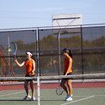 San Mateo High School Girls Varsity Tennis beat Carlmont High School 4-3