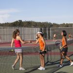 San Mateo High School Girls Varsity Tennis falls to Burlingame High School 3-4