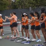 San Mateo High School Girls Varsity Tennis beat Burlingame High School 5-2