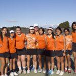 San Mateo High School Girls Varsity Tennis beat Carlmont High School 6-1