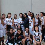San Mateo High School Girls Junior Varsity Basketball beat Prospect High School 20-13