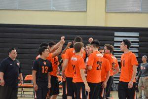 SMHS Boys Varsity Volleyball vs Hillsdale 2016-04-20