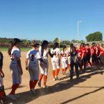 San Mateo High School Varsity Softball beat Burlingame High School 12-8