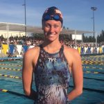 Swimmer Emma Lepisova breaks school record