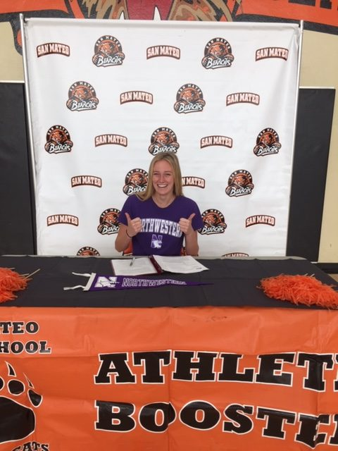 Emma Lepisova signs on National Letter of Intent Day