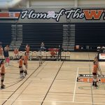 Girls Freshman Volleyball beats Woodside 2 – 0