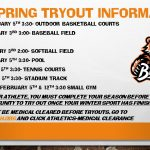 2020 Spring Sports Tryout Information