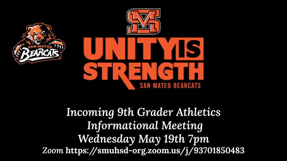 Incoming 9th Grade Athletics Information Night