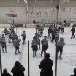 Farmington High School Boys Varsity Hockey beat Novi High School 3-1