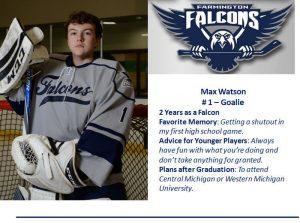 2016-17 Falcons Hockey Senior Night