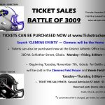 """Battle of 3009"" Ticket Sales Information"