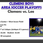 Clemens Boys Soccer Area Playoff Information
