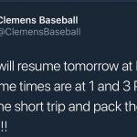 Baseball Playoff Series Rescheduled