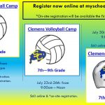 You still have time to register for Clemens Volleyball and Football Camps!