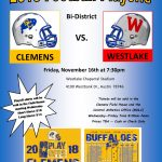 2018 Clemens Football Playoff Information