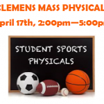Clemens Mass Physicals Day!  April 17, 2019